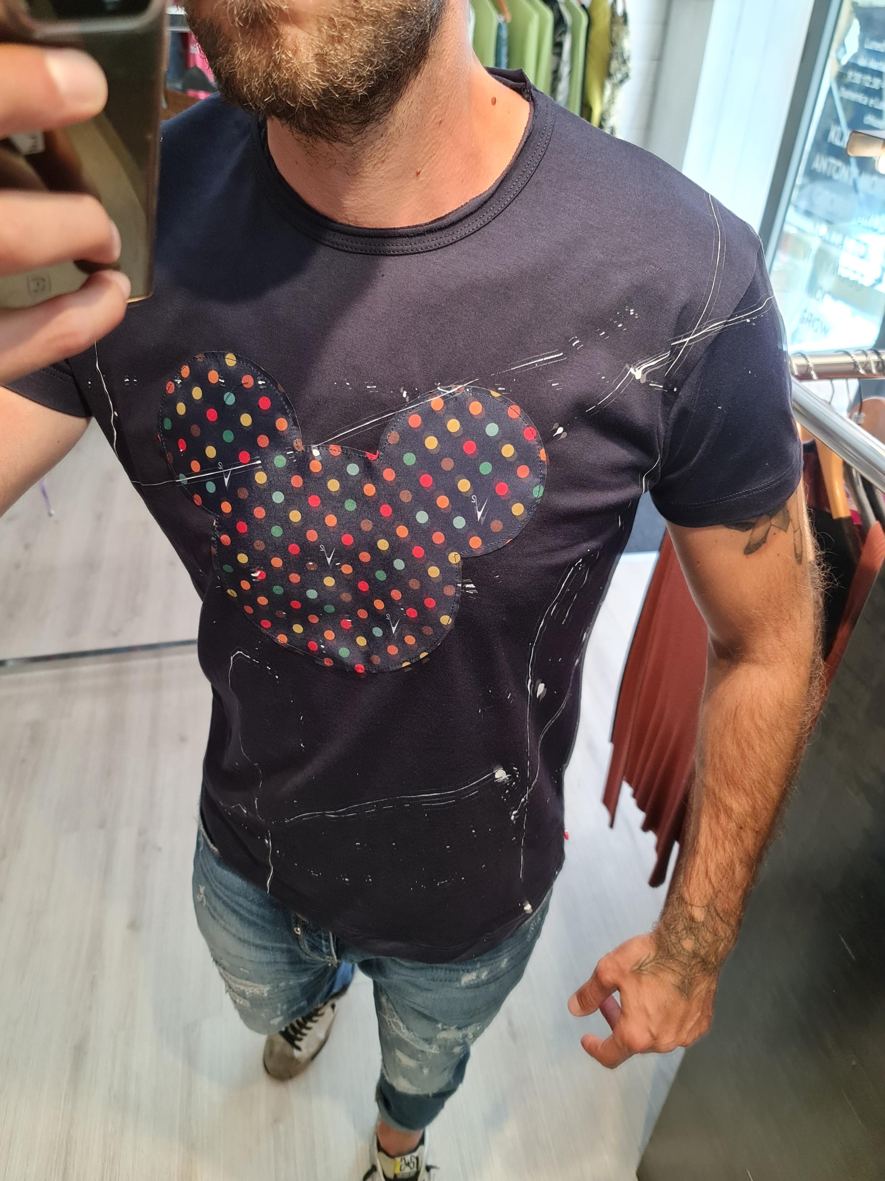 T shirt topolino schizzi