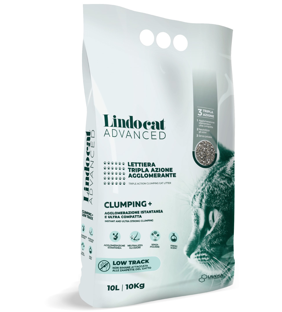 Lindocat Advanced - Clumping + - Low Track - 10 litri
