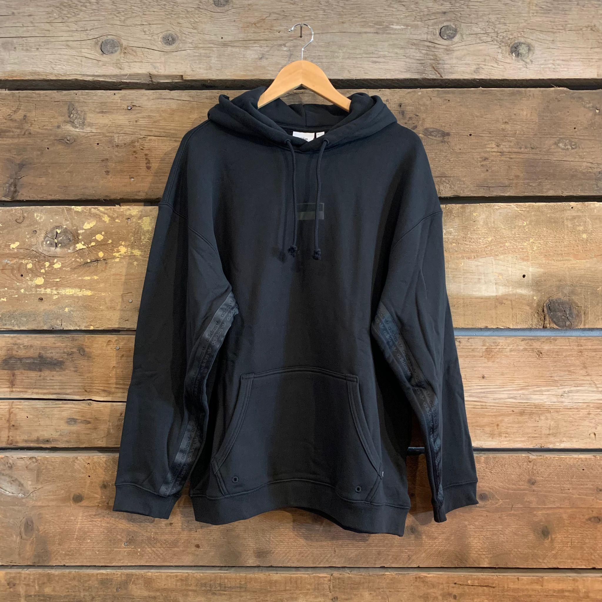 Felpa Adidas Originals R.Y.V. Logo con Cappuccio Nera