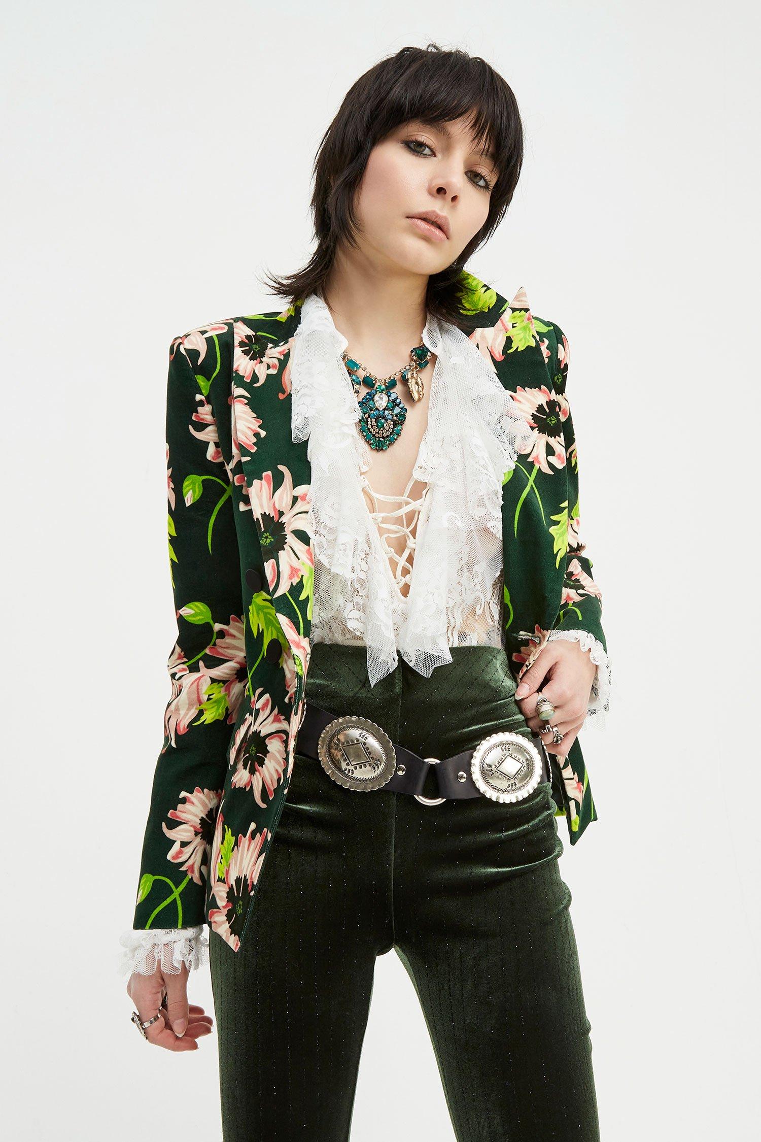 Giacca Blazer Jimi bloomy green Aniye By