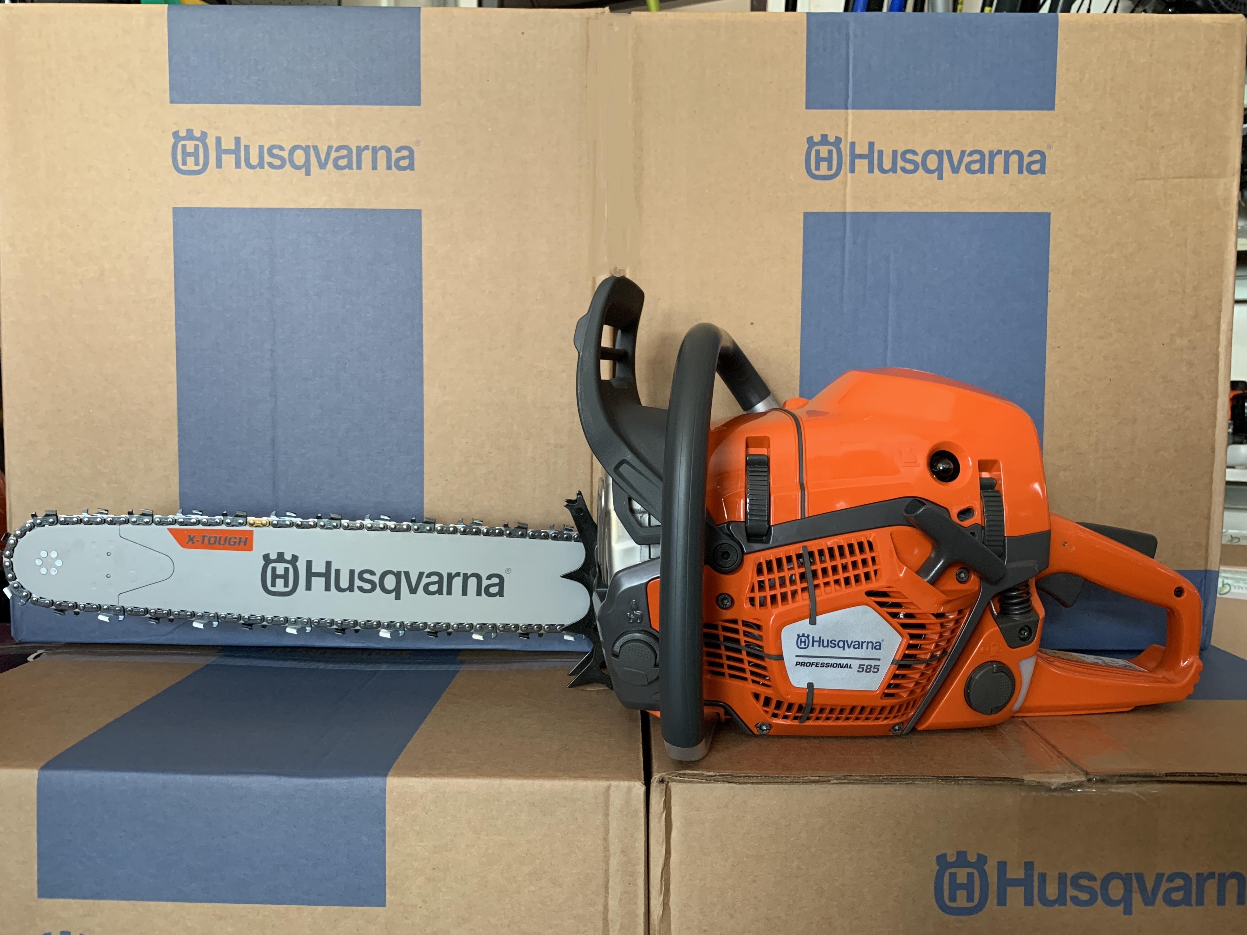 MOTOSEGA HUSQVARNA PROFESSIONALE 585 nuovo modello - 86 cc - 5,1 Kw - BARRA 50