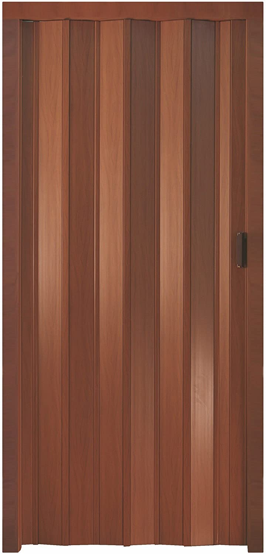 Porta a soffietto 83x214 riducibili colore Noce