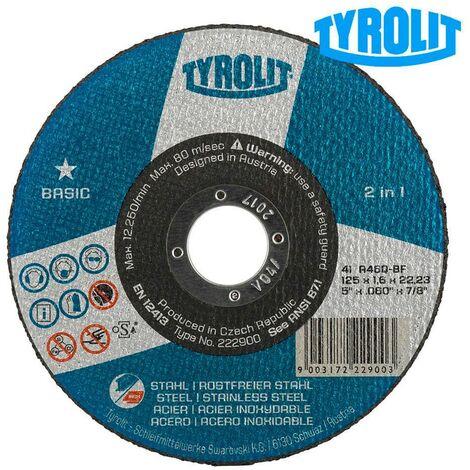 Disco da Taglio Ferro e Acciaio Inox Tyrolit serie Basic
