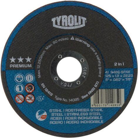 Disco da Taglio Ferro e Acciaio Inox Tyrolit serie Premium