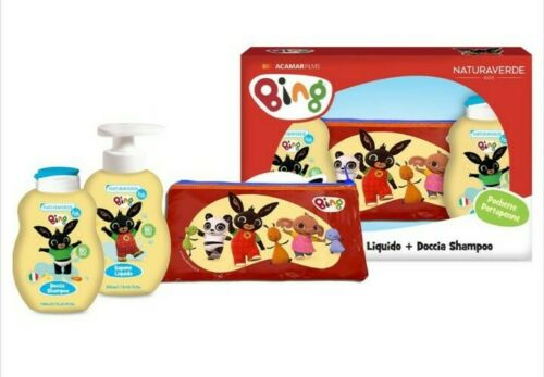Bing sapone liquido + doccia shampoo + portapastelli