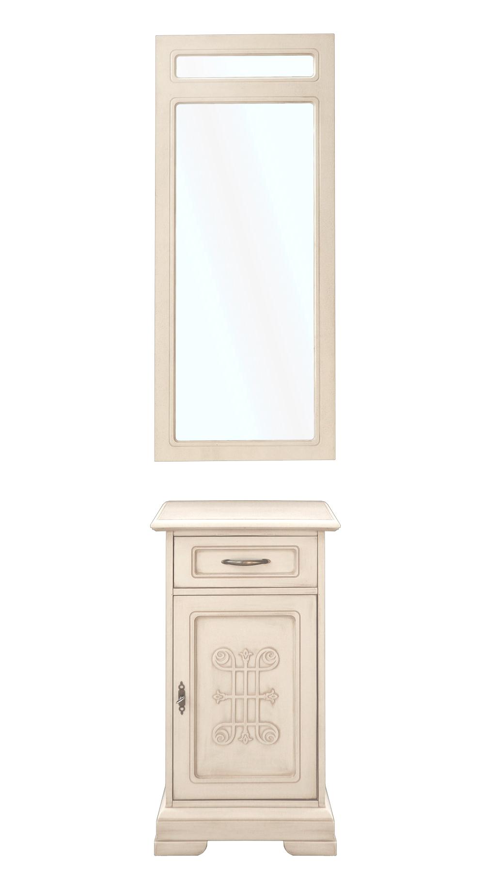 PROMO ! Ensemble meubles pour entrée - Meuble + miroir
