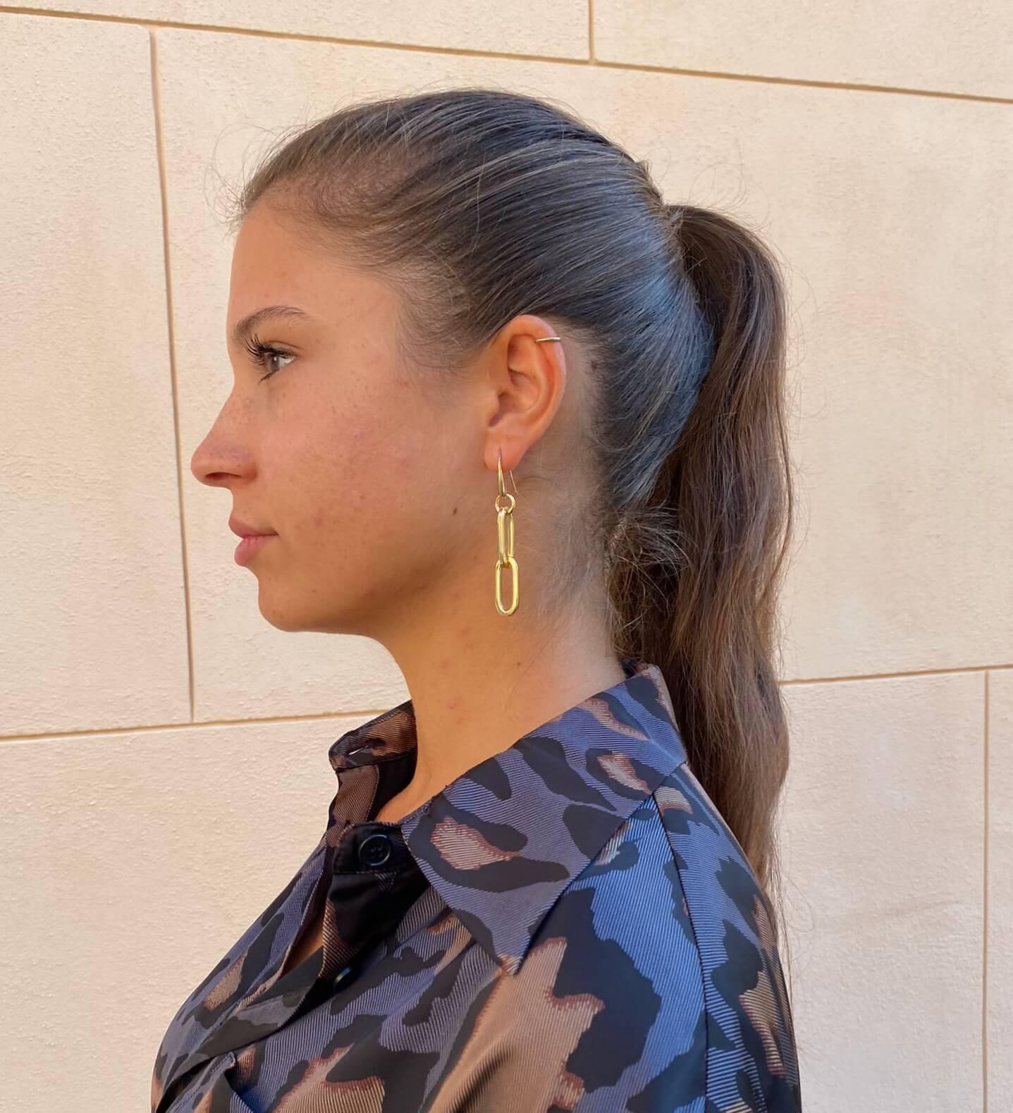 Orecchini pendenti a catena oro Francesca Bianchi