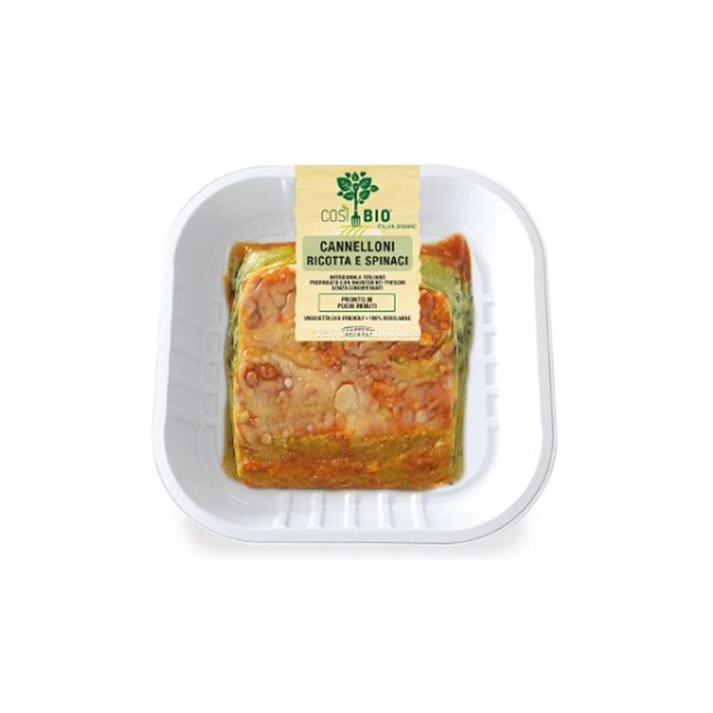 Cannelloni ricotta e spinaci 250 gr Così bio