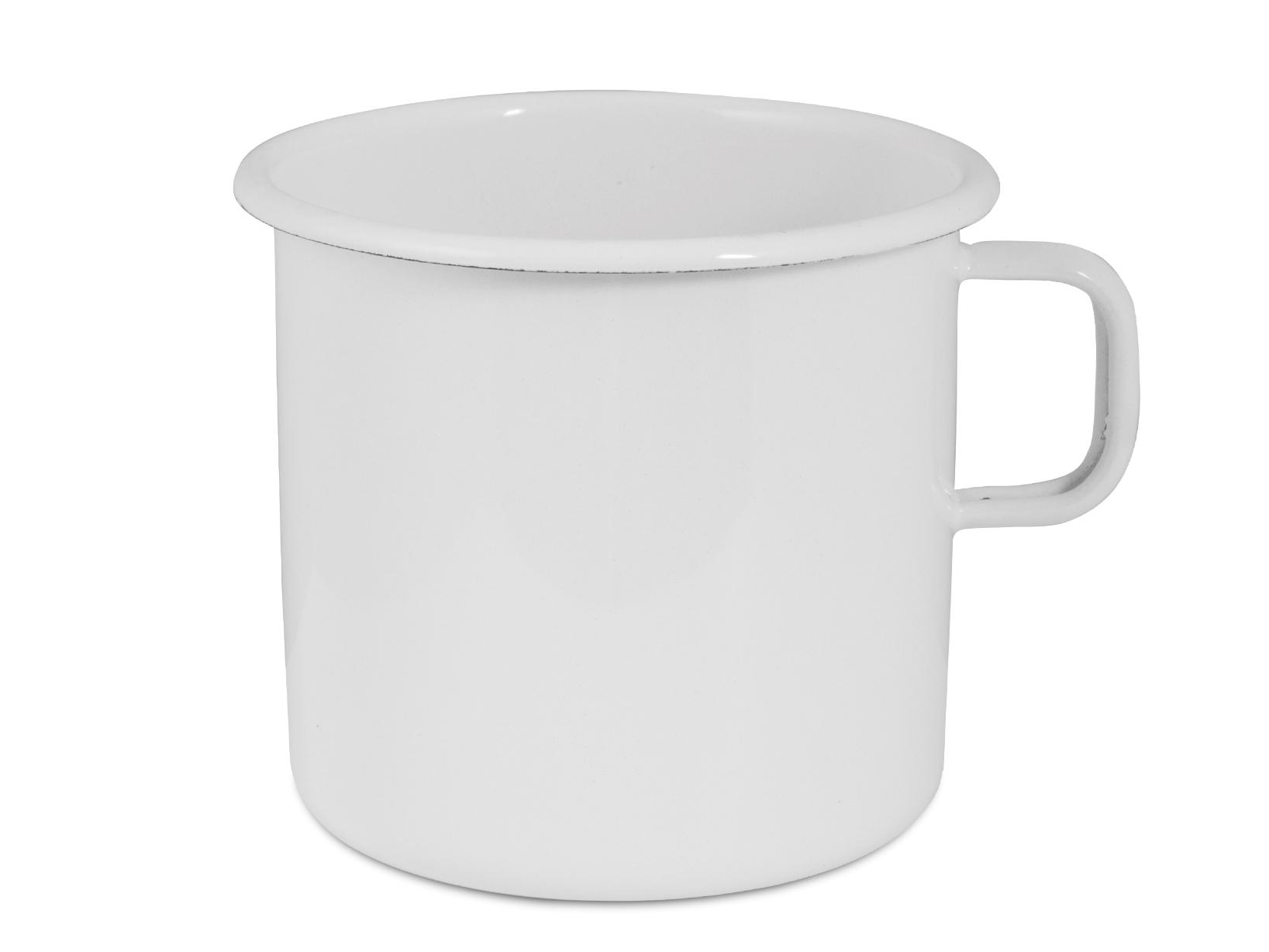 Pignatto Smalto Senza Bordo Bianco Latte Cm 12