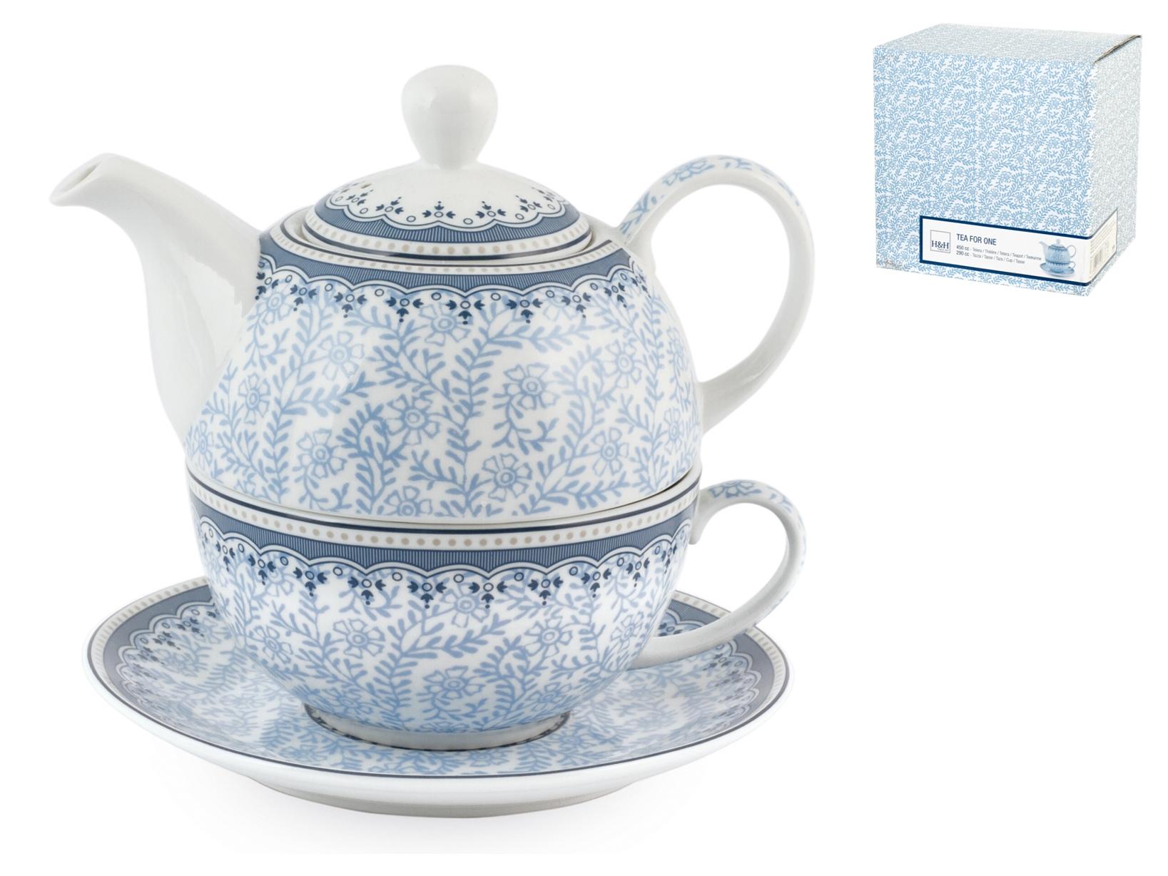 H&h Tea-for-one Porcellana Blue Dream