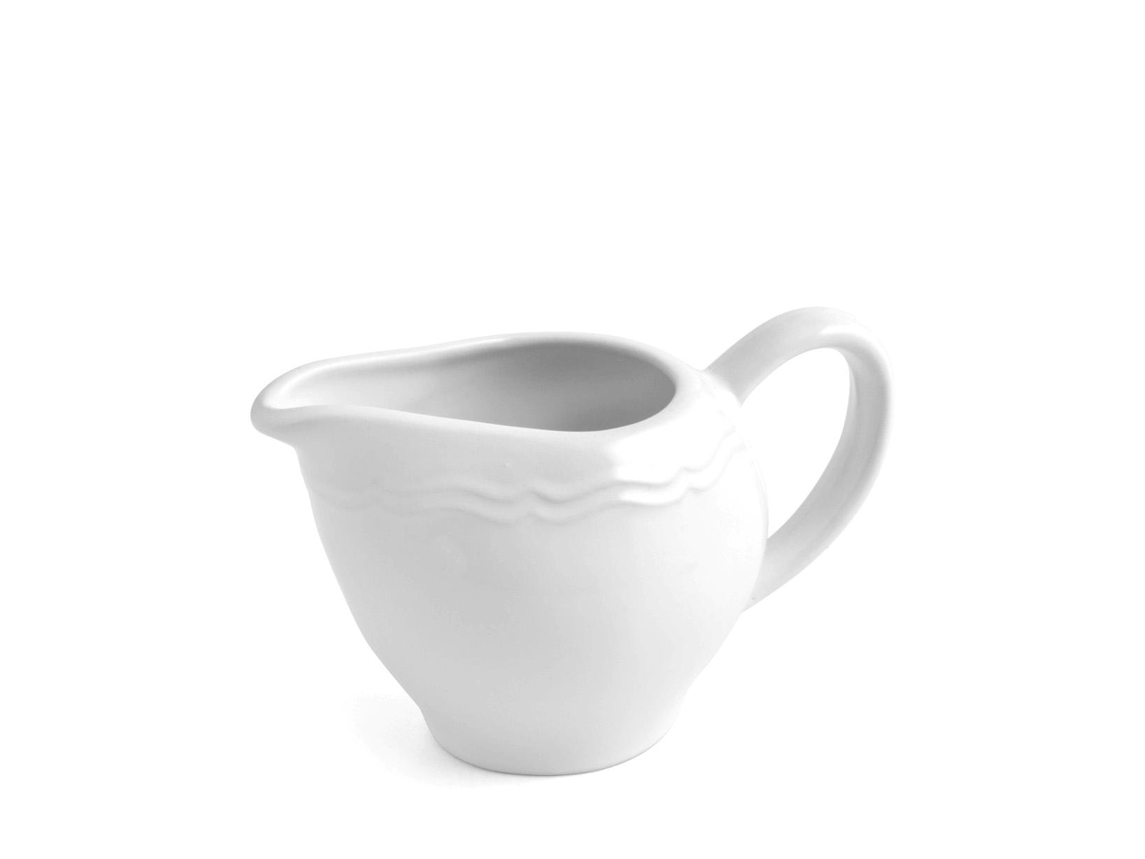 Lattiera In Ceramica, Bianco