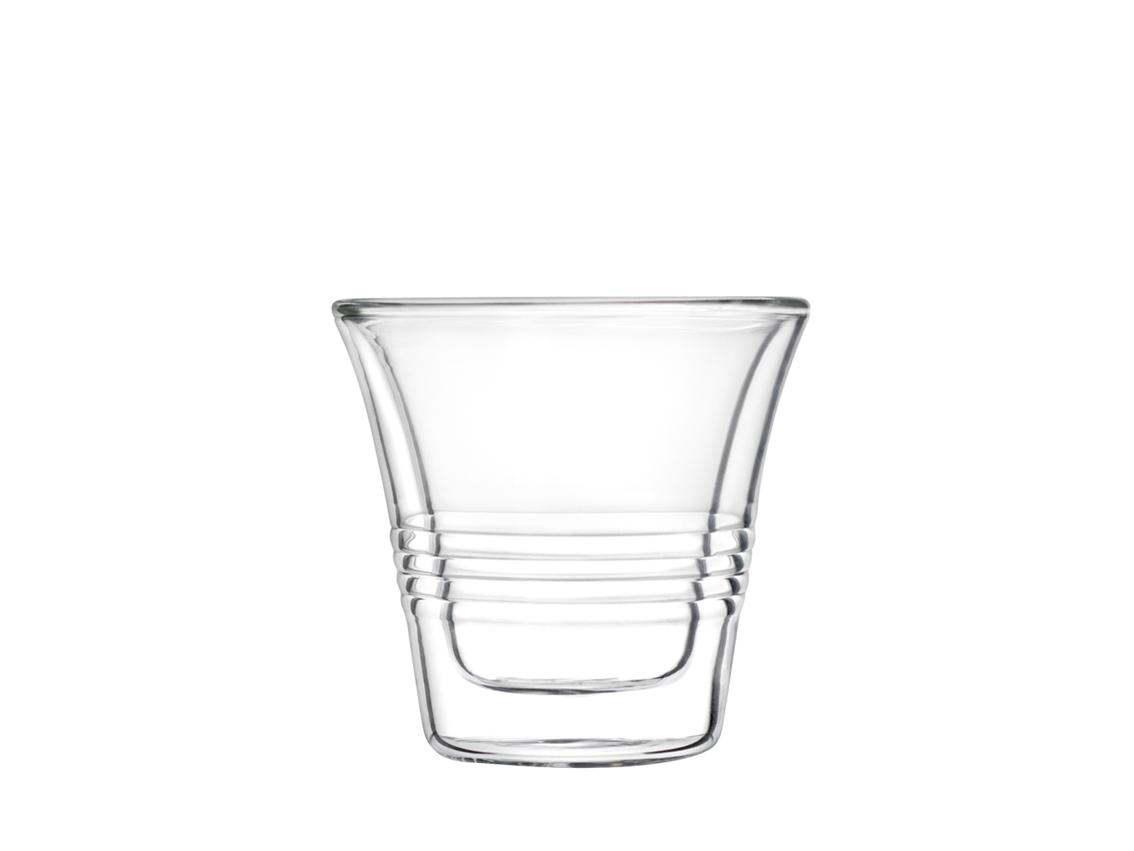 Set 4 Bicchieri Termici In Borosilicato, 70 Ml, Trasparente