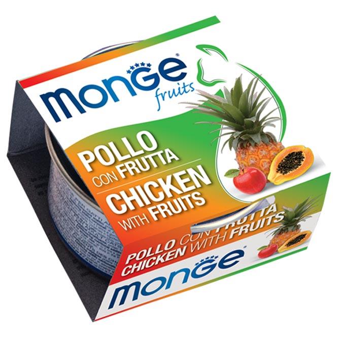 MONGE FRUITS POLLO CON FRUTTA PER GATTO 80gr