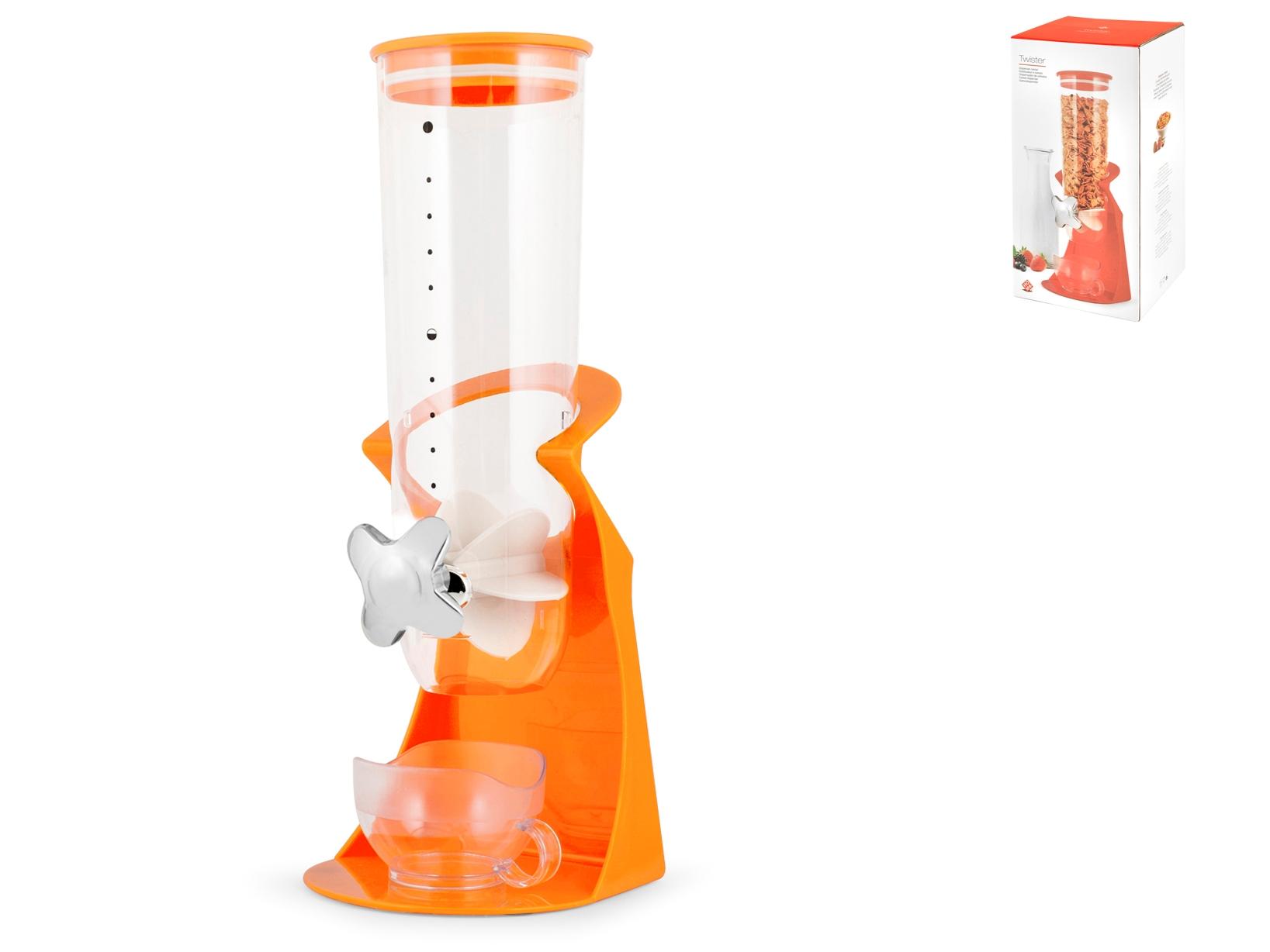 Dispenser Cereali Polistirene Colore Arancio