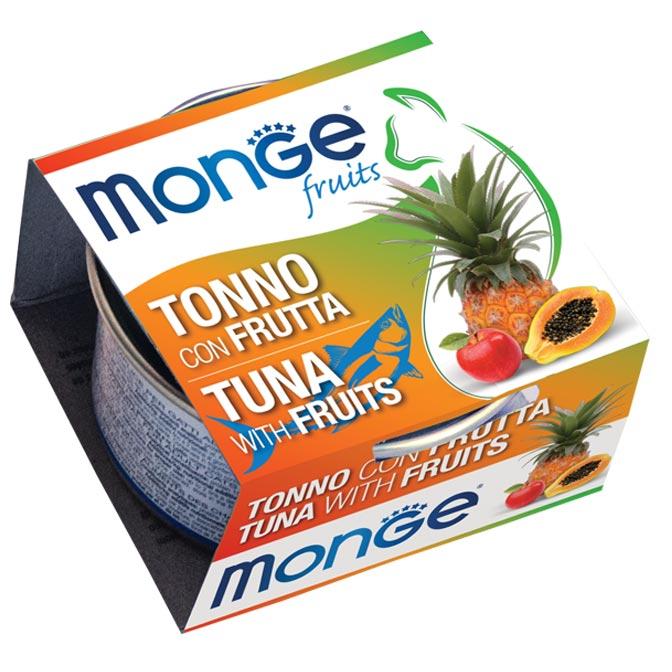 MONGE FRUITS TONNO CON FRUTTA PER GATTO 80gr