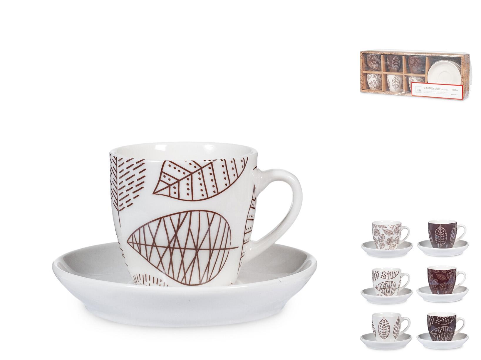 Confezione 6 Caffe' Nbc Michelle Con Piatto Cc100