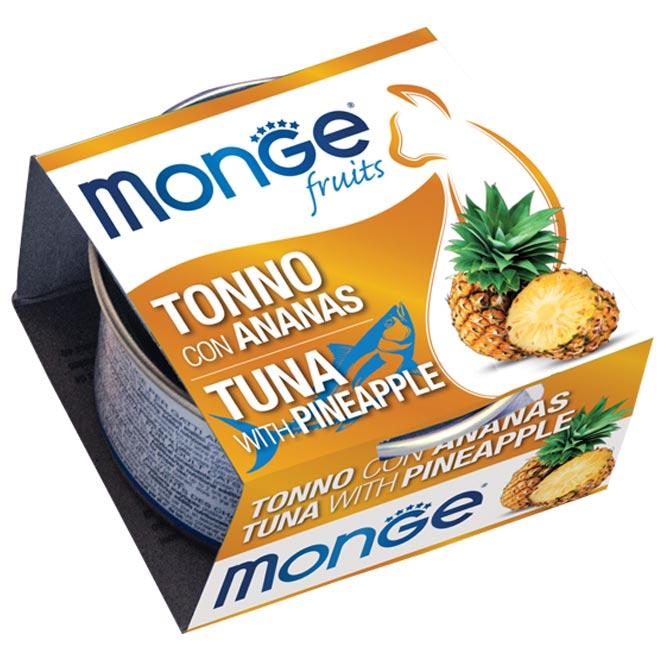 MONGE FRUITS TONNO CON ANANAS PER GATTO 80gr