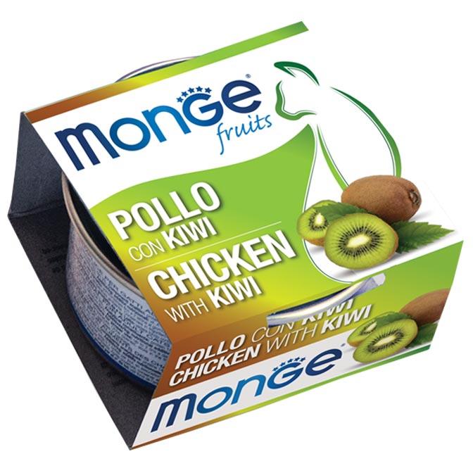 MONGE FRUITS POLLO CON KIWI PER GATTO 80gr
