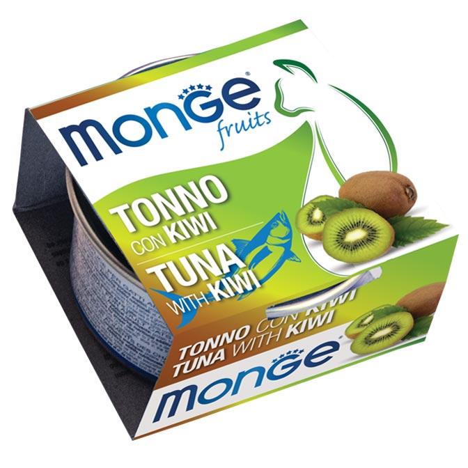 MONGE FRUITS TONNO CON KIWI PER GATTO 80gr