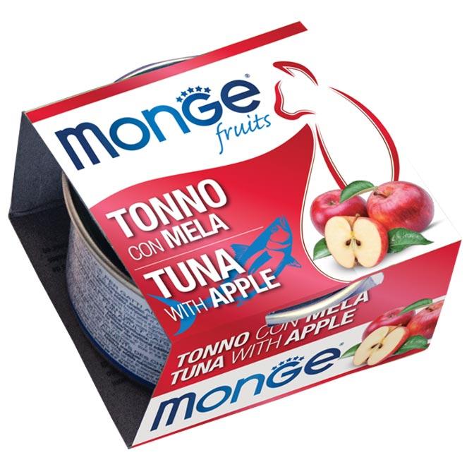 MONGE FRUITS TONNO CON MELA PER GATTO 80gr