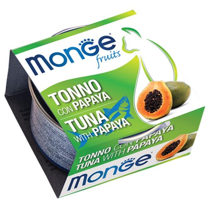 MONGE FRUITS TONNO CON PAPAYA PER GATTO 80gr