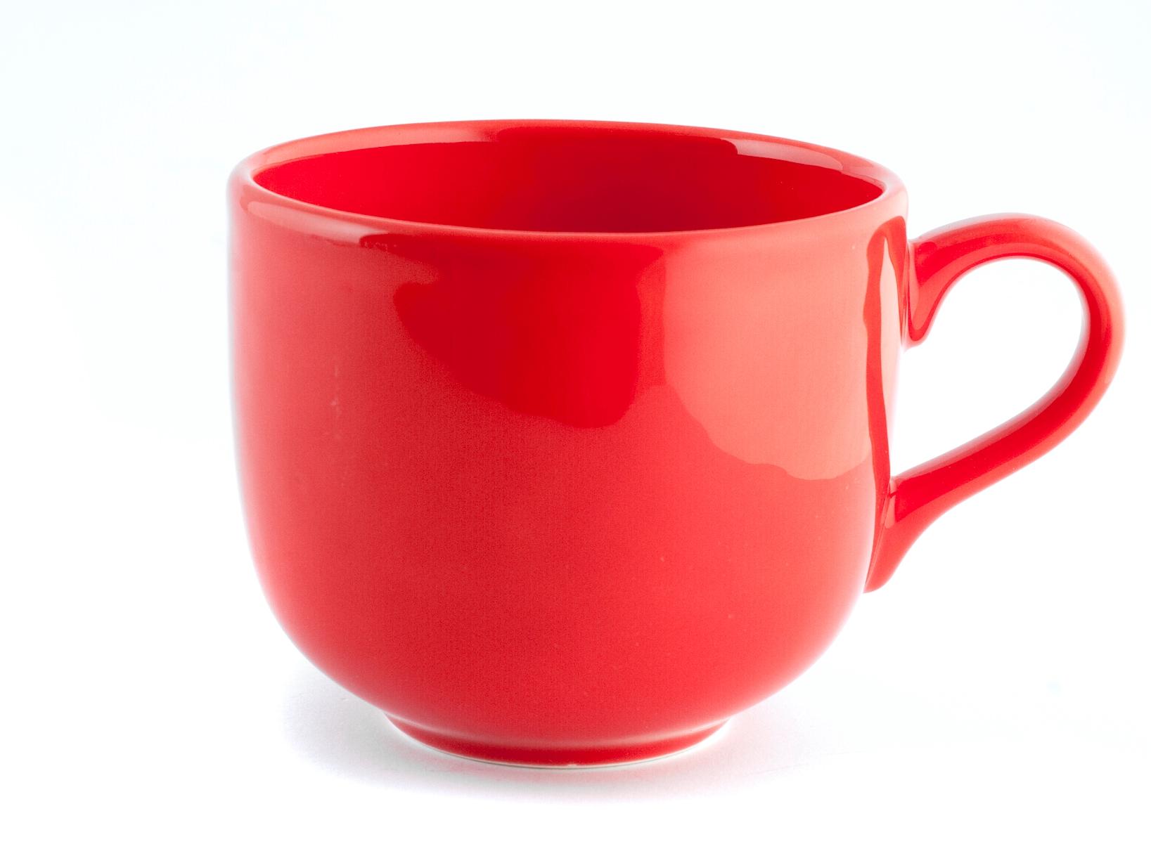 Confezione 6 Tazze Jumbo Ceramica Iris Rosso Senza Piatto 50