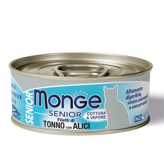 MONGE JELLY SENIOR TONNO CON ALICI PER GATTO 80gr