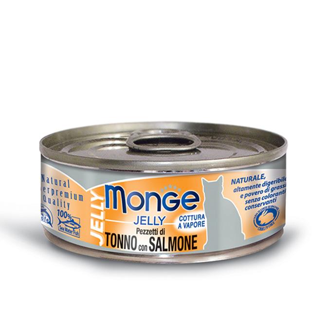 MONGE JELLY TONNO CON SALMONE PER GATTO 80gr