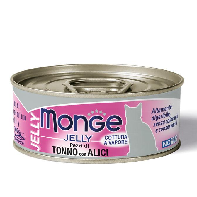 MONGE JELLY TONNO CON ALICI PER GATTO 80gr