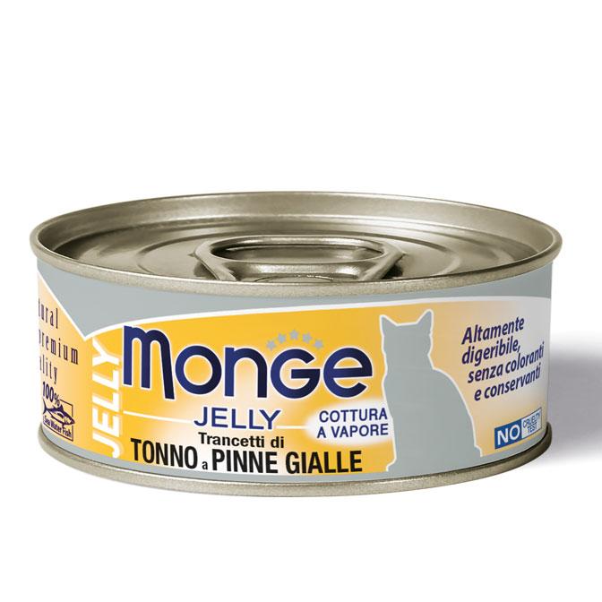 MONGE JELLY TONNO A PINNE GIALLE PER GATTO 80gr