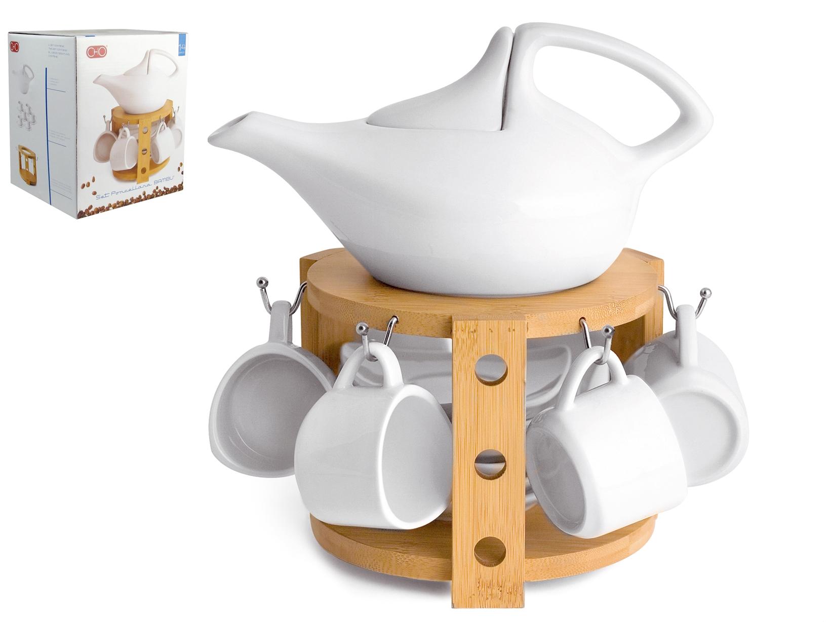 Servizio Caffe' 13pz Porcellana Con Piatto Bamb4240/1