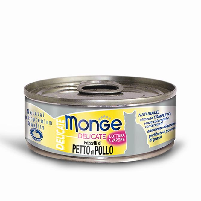 MONGE DELICATE PETTO DI POLLO PER GATTO 80gr