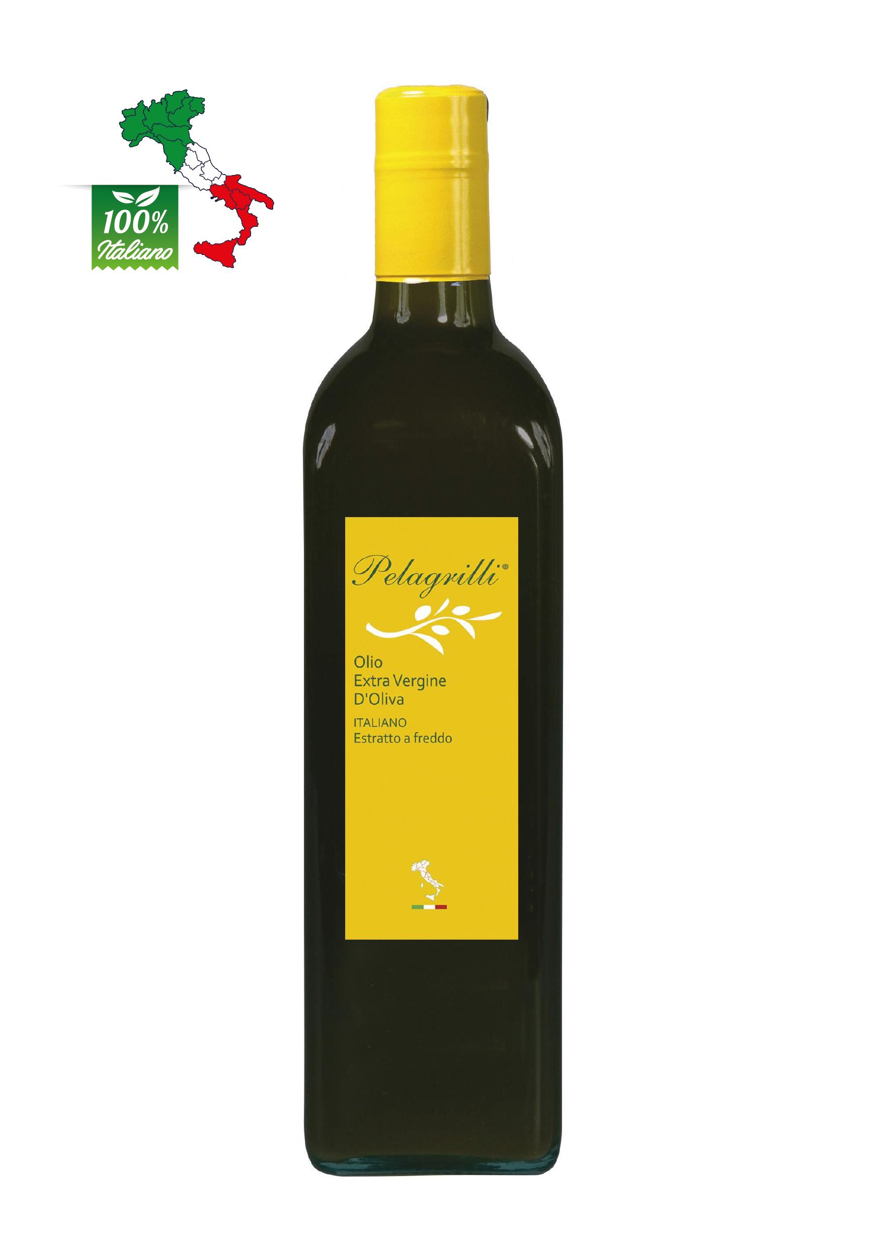 100% ITALIANO Raccolto 2021-2022 LT 0,75  Olio extravergine di oliva - estratto a freddo - FILTRATO