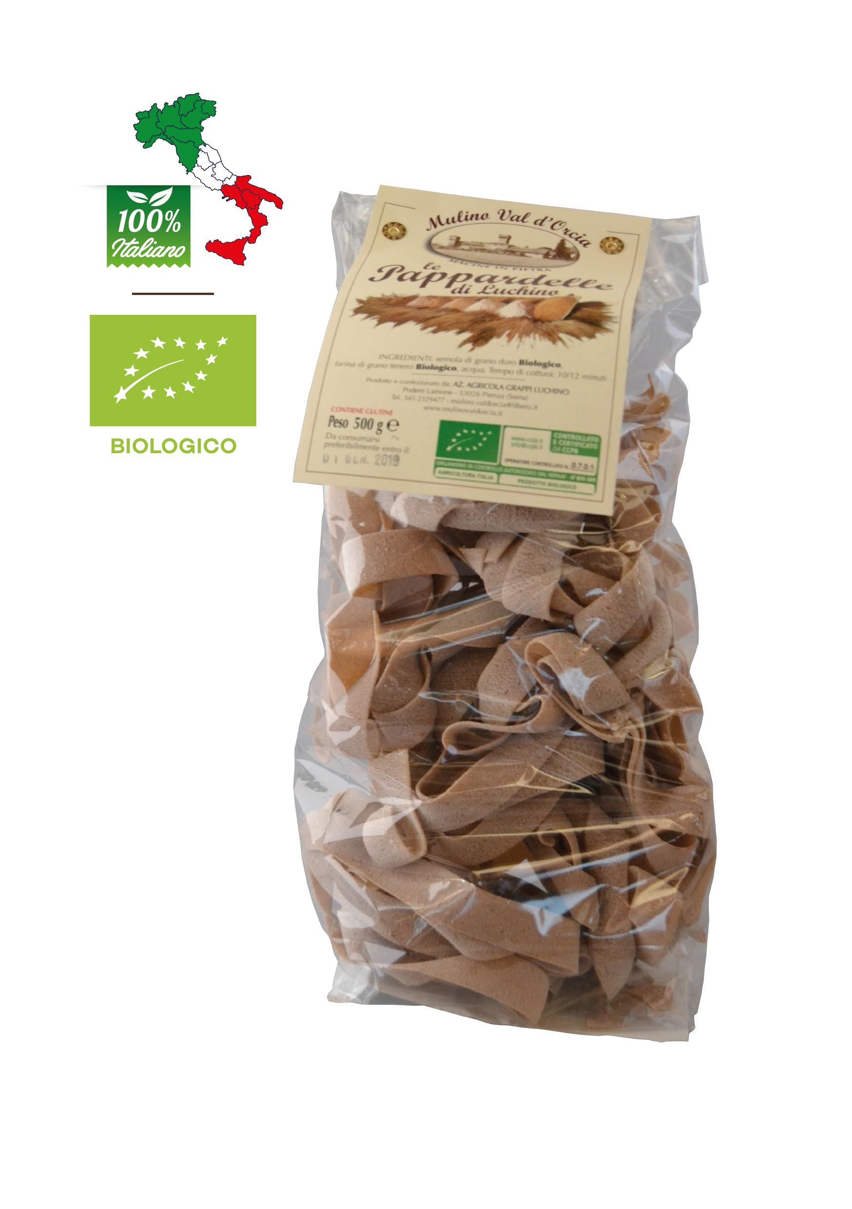Pappardelle BIOLOGICHE confezione da gr. 500