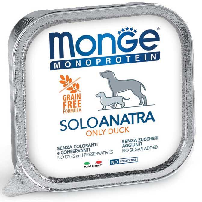 MONGE MONOPROTEICO SOLO ANATRA PATE' PER CANE 150GR