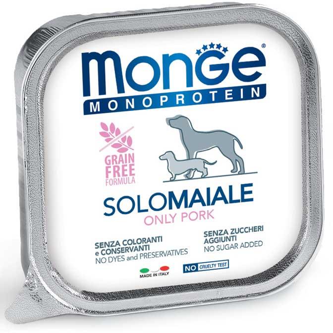 MONGE MONOPROTEICO SOLO MAIALE PATE' PER CANE 150GR