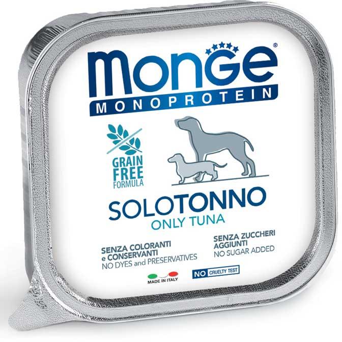 MONGE MONOPROTEICO SOLO TONNO PATE' PER CANE 150GR