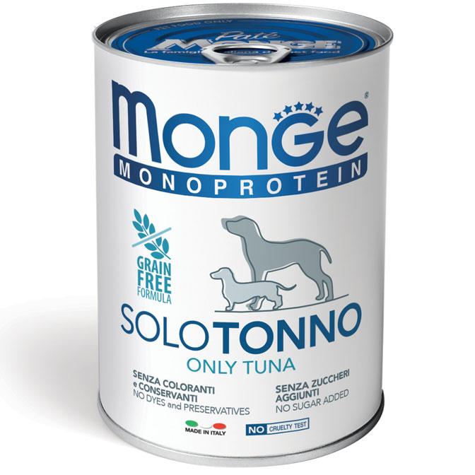 MONGE MONOPROTEICO SOLO TONNO PATE' PER CANE 400GR