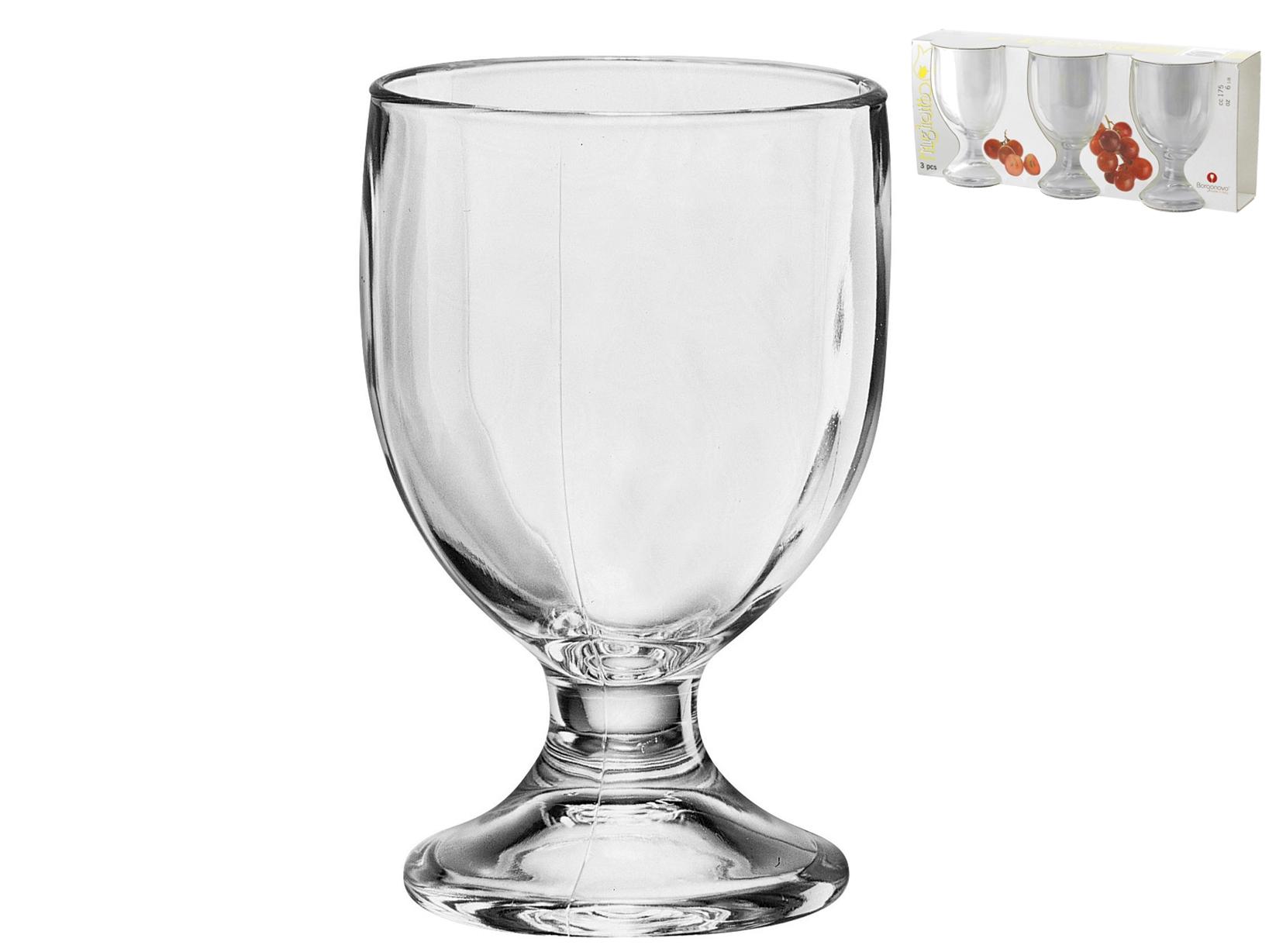 Confezione 3 Calici In Vetro Mughetto Vino