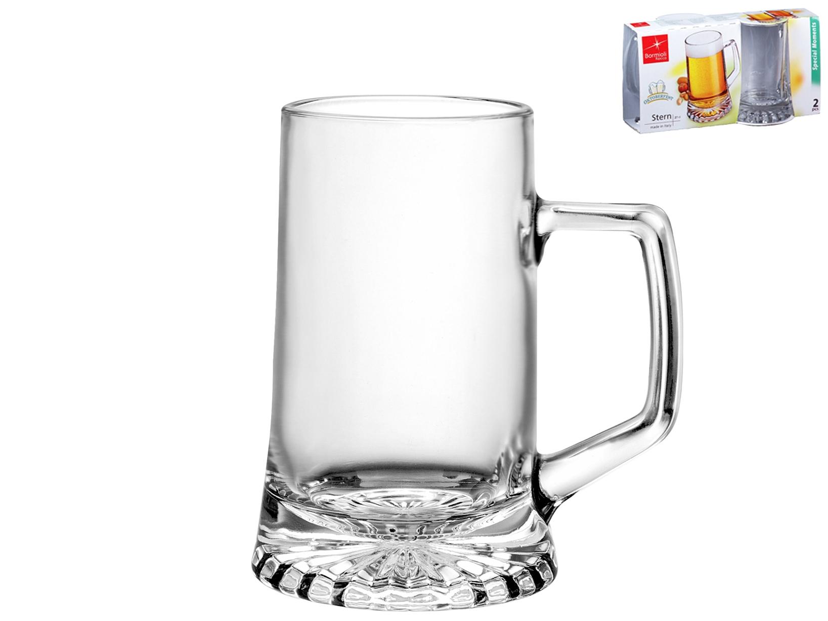 Confezione 2 Bicchieri In Vetro Stern Con Manico 0,2 Cl26