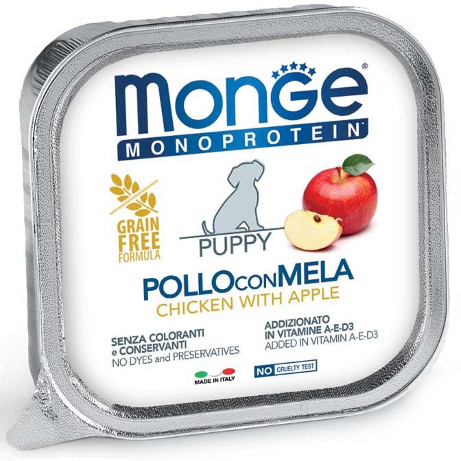 MONGE MONOPROTEICO FRUIT POLLO CON MELA PATE' PER CUCCIOLO 150GR
