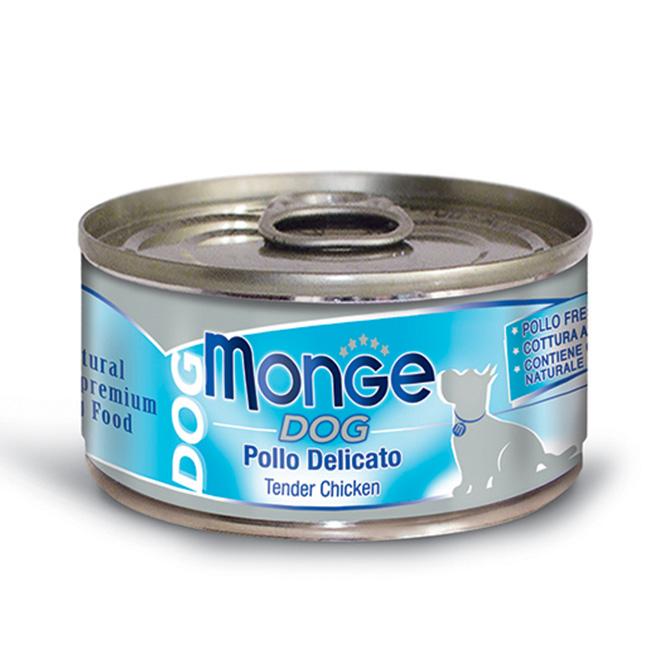 MONGE NATURAL POLLO DELICATO PER CANE 95GR
