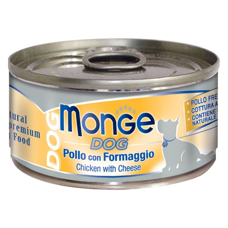 MONGE NATURAL POLLO CON FORMAGGIO PER CANE 95GR