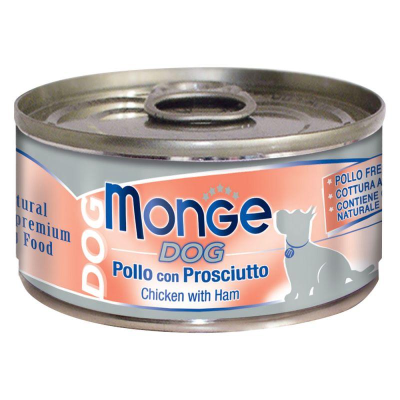 MONGE NATURAL POLLO CON PROSCIUTTO PER CANE 95GR