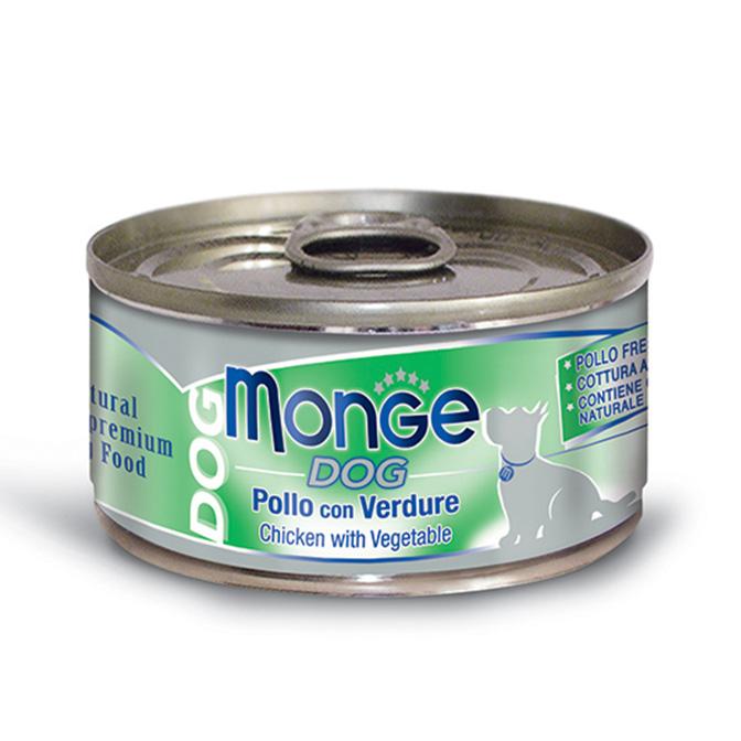 MONGE NATURAL POLLO CON VERDURE PER CANE 95GR