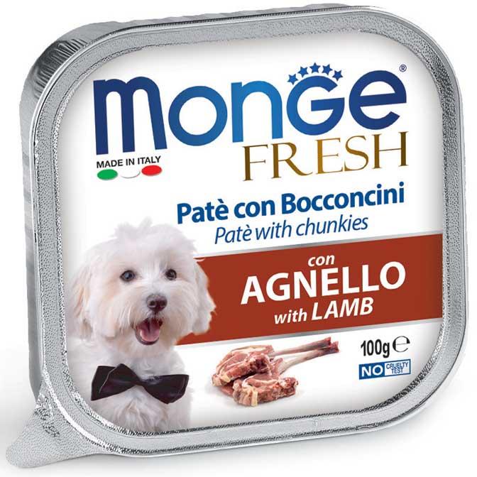 MONGE FRESH AGNELLO PATE' CON BOCCONCINI PER CANE 100GR