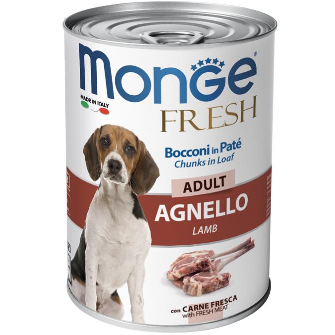 MONGE FRESH AGNELLO PATE' CON BOCCONCINI PER CANE 400GR