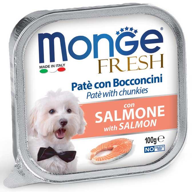 MONGE FRESH SALMONE PATE' CON BOCCONCINI PER CANE 100GR