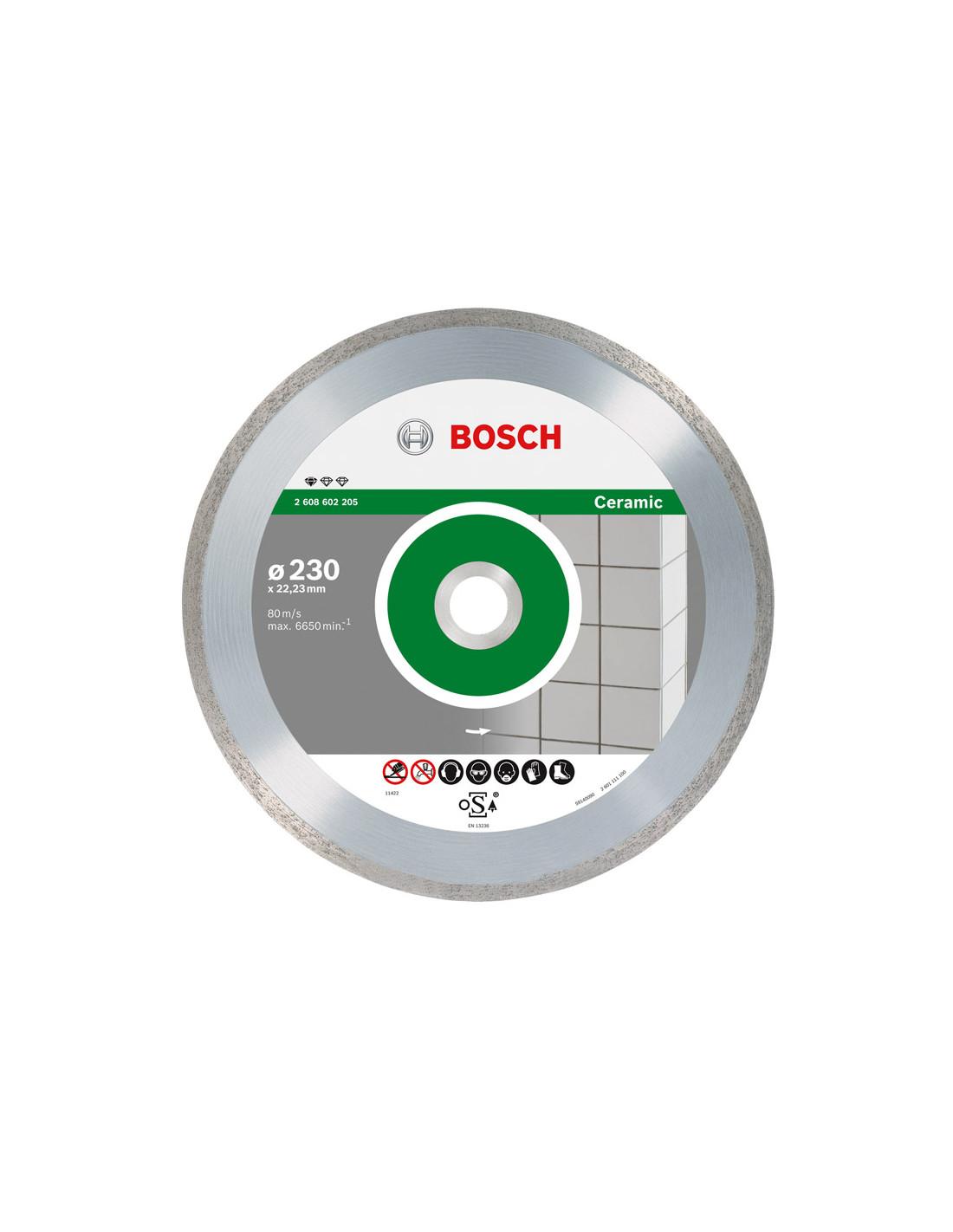 Disco Diamantato Per Ceramica e Gress Corona Liscia 230 mm BOSCH