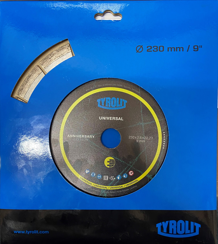 Disco Diamantato Universale per Edilizia 230mm Tyrolit